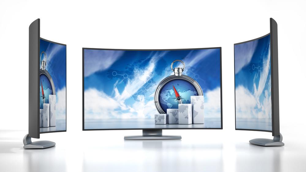 televisão curva