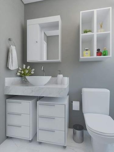 Gaveteiro móveis para banheiro