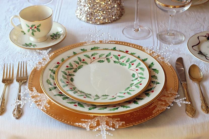 Aparelho de jantar para decoração de mesa de natal