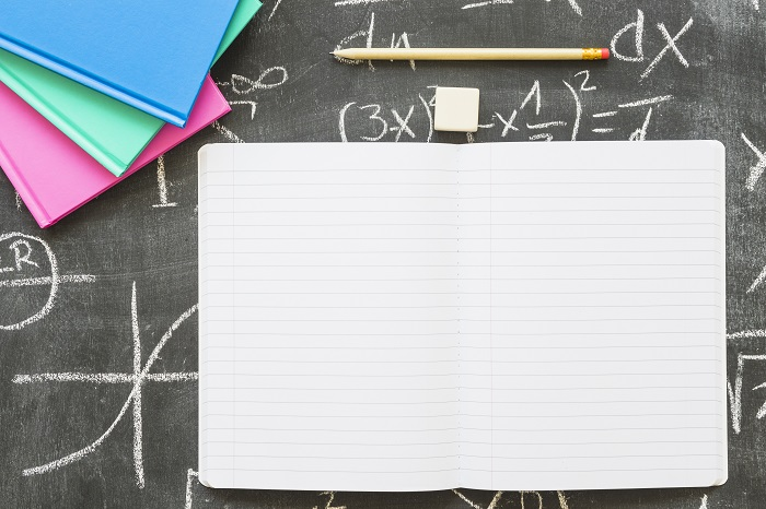 Caderno material escolar