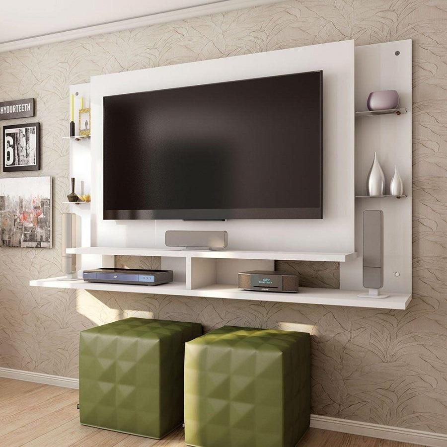 Painel de tv suspenso sala