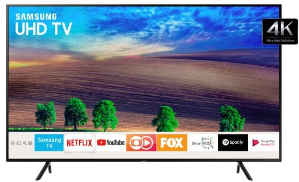 """Smart TV LED 49"""" Samsung 4k UN49NU7100GXZD"""
