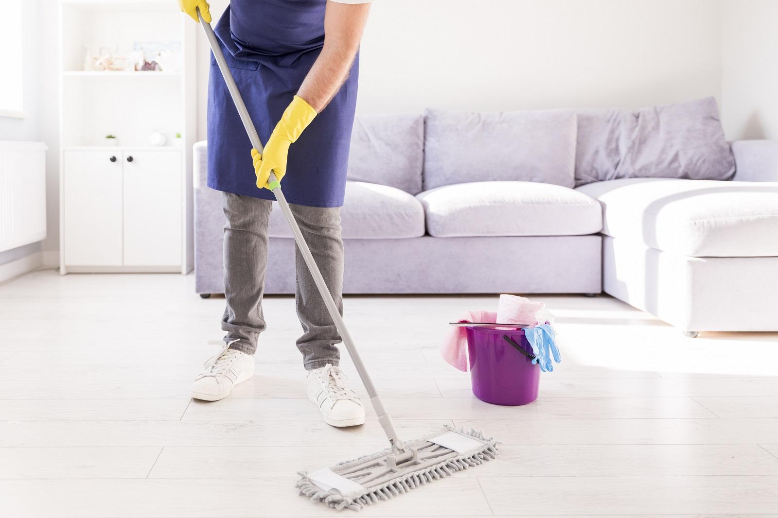 limpeza fácil e rápida com MOP