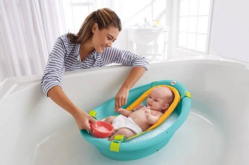 lista enxoval de bebê banheira