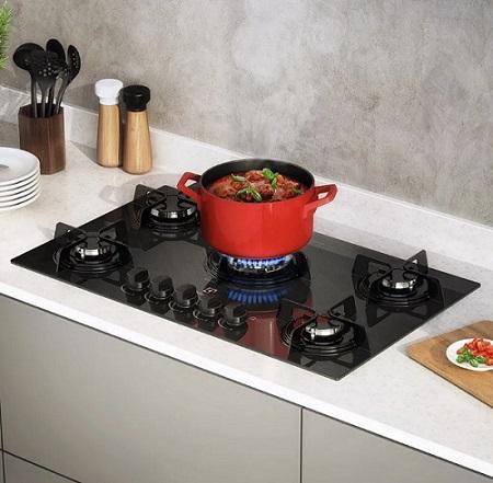fogão cooktop cozinha americana