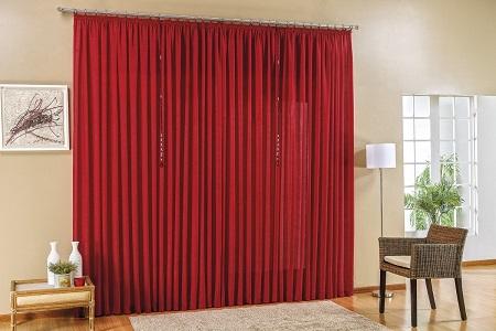cortina em seda sala