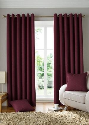 cortina tecido pesado
