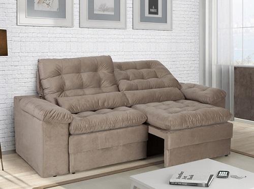sala de estar sofá retrátil e reclinável