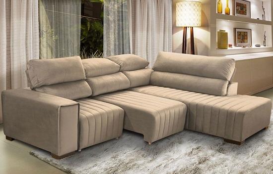 sofá de cantro retrátil sala