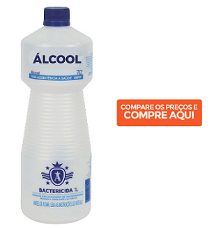 álcool 70% limpar