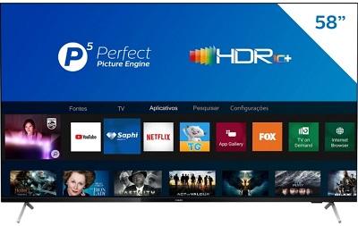 """Smart TV 58"""" Philips 4K UHD 58PUG7625/78"""